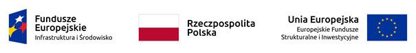 Logotypy unijne dotyczące dofinansowania projektu.